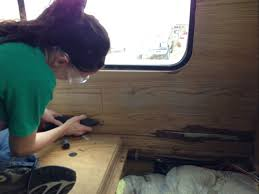 how to replace rv paneling rv remodel nomadic powers jil