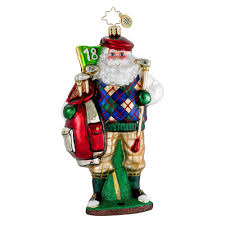 radko ornaments santa golf ornament fore the holidays