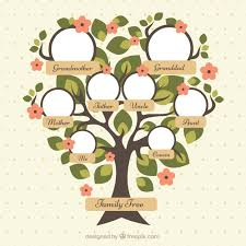 pretty family tree with green leaves and flowers vector free