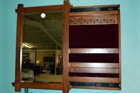 Jewelry Cabinets Wall Mounted by Seize The Deal Auction Wall Mounted Jewelry Armoire From Oak