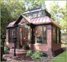 brick shed copper brick conservatory traditional garden shed and