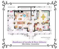 artist draws beautiful floor plans of famous tv show homes today com