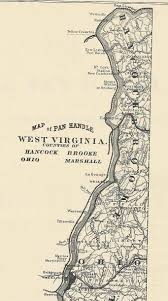 Panhandle Of Florida Map by West Virginia County Map
