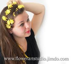 yellow headband yellow floral crown yellow headband yellow bridal floral crown
