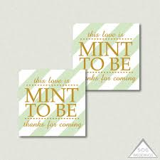 mint to be favors mint to be favor tags mint favors printable wedding favor tags