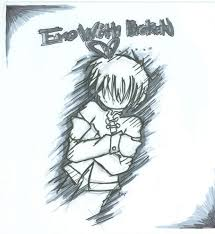 emo heart drawings emo with a broken heart emo pinterest