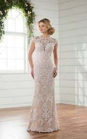 column wedding dresses wedding dresses column wedding dress with cap sleeves essense