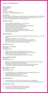 Resume For Ojt Computer Science Student 10 Computer Science Resume