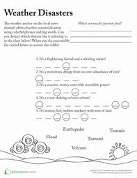 master of disaster vocabulary worksheet education com