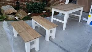 Ana White Farmhouse Bench Ana White Narrow Farmhouse Table With Benches Diy Projects