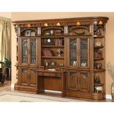 Home Office Bookcase Wall Unit With Desk And Bookcases Custom Home Office Furniture