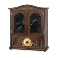 Speed Bag Wall Mount Victrola Wall Mounted Record Player With Cd And Boombox Vta 25