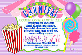 carnival birthday invitations ideas best invitations card ideas