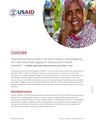 women s gender equality and women s empowerment ethiopia u s agency