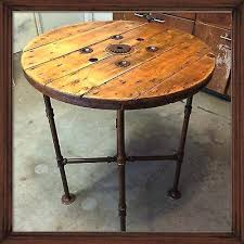 Industrial Bistro Table Reclaimed Wood Bistro Table Walnut Work Table Sycamore Pub Table