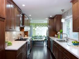 kitchen style small natural finishes wood galley kitchen ideas