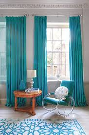 Turquoise Living Room Decor Curtains Bright Turquoise Curtains Designs 15 Lively And Colorful