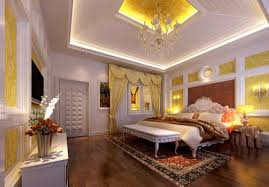 tray ceiling lighting ideas with simple bedroom decorating inside