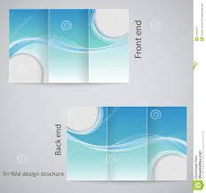 free tri fold brochure template tri fold brochure design stock vector illustration of layout