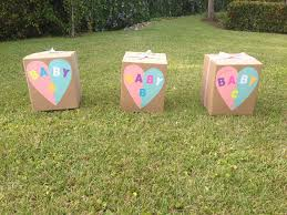 gender reveal balloons in a box reveal party ideas