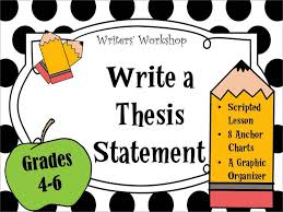 Thesis statement lesson plan middle school   metricer com Metricer com