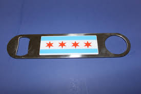 Chicagos Flag Chicago Flag Bottle Opener Chicago Fop