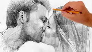 how to draw kissing people valentine u0027s day special youtube