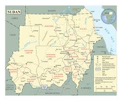 africa map khartoum detailed political and administrative map of sudan with roads