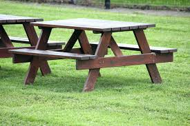 Diy Small Round Wood Park Picnic Table With Detached Octagon Bench by Picnic Table Plans Detached Benches Gallery Table Design Ideas