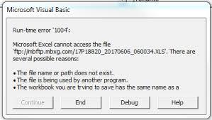 excel vba vba filedialogopen to ftp folder run time error u00271004