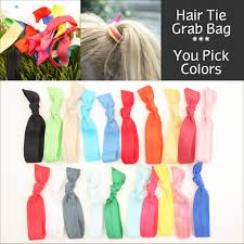 ribbon hair ties no crease hair tie grab bag 20 knotted elastic ribbon hair ties