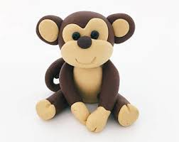 monkey cake topper etsy