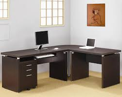 Modern Contemporary Home Office Desk Papineau Contemporary L Shaped Home Office Desk All About House