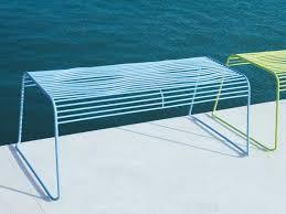 Steel Garden Bench Grid Garden Bench By Ciacci Design Karim Rashid