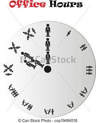 les heures de bureau heures horloge bureau horloge bureau sur isolé clipart
