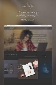 Resume Web Templates Caligo Portfolio U0026 Resume Website Template 65417