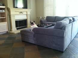 what colors will help my grey sofa look more grey not blue