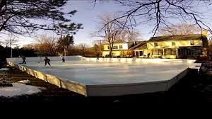 Build Backyard Ice Rink by Man Builds Backyard Ice Rink Using 15 000 Gallons Of Water Abc News