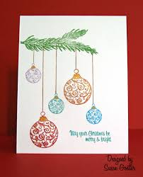 drawn christmas ornaments card pencil and in color drawn