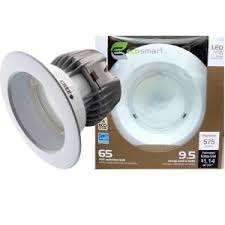 led recessed ceiling lights home depot 4 in 9 5 watt 65w led downlight with gu24 base e 4 pack eco4