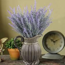 amazon com gtidea 4pcs artificial fake flocked lavender bouquet