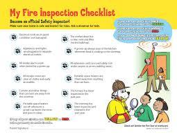 Home Inspection Checklist by Sparky U0027s Home Fire Inspection Checklist Kids U0027 Activities Games