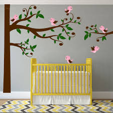 Nursery Wall Tree Decals Swirly Tree Nursery Wall Decal Birds 1329 Innovativestencils