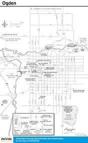 Map Of Ogden Utah by Printable Travel Maps Of Utah Zion U0026 Bryce Moon Com
