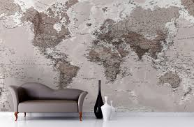 map mural neutral shades map wallpaper mural neutral tones wall