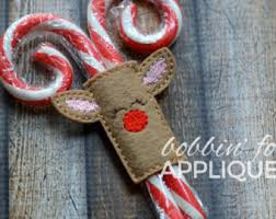 where to buy candy canes reindeer candy holder sleeve ith in the hoop embroidery