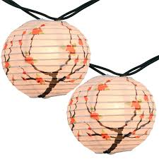 Dragonfly String Lights by Cherry Blossom Nylon Paper Lantern String Lights