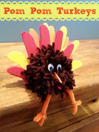 easy thanksgiving turkey easy thanksgiving craft pom pom turkey centerpiece little miss kate