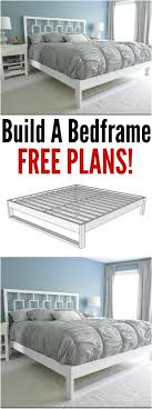 Bed Frame Build 21 Diy Bed Frame Projects Sleep In Style And Comfort Diy Crafts