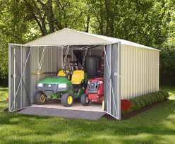 Canopy Storage Shelter by Arrow Commander Storage Shed Seies 10 U0027 X 10 U0027